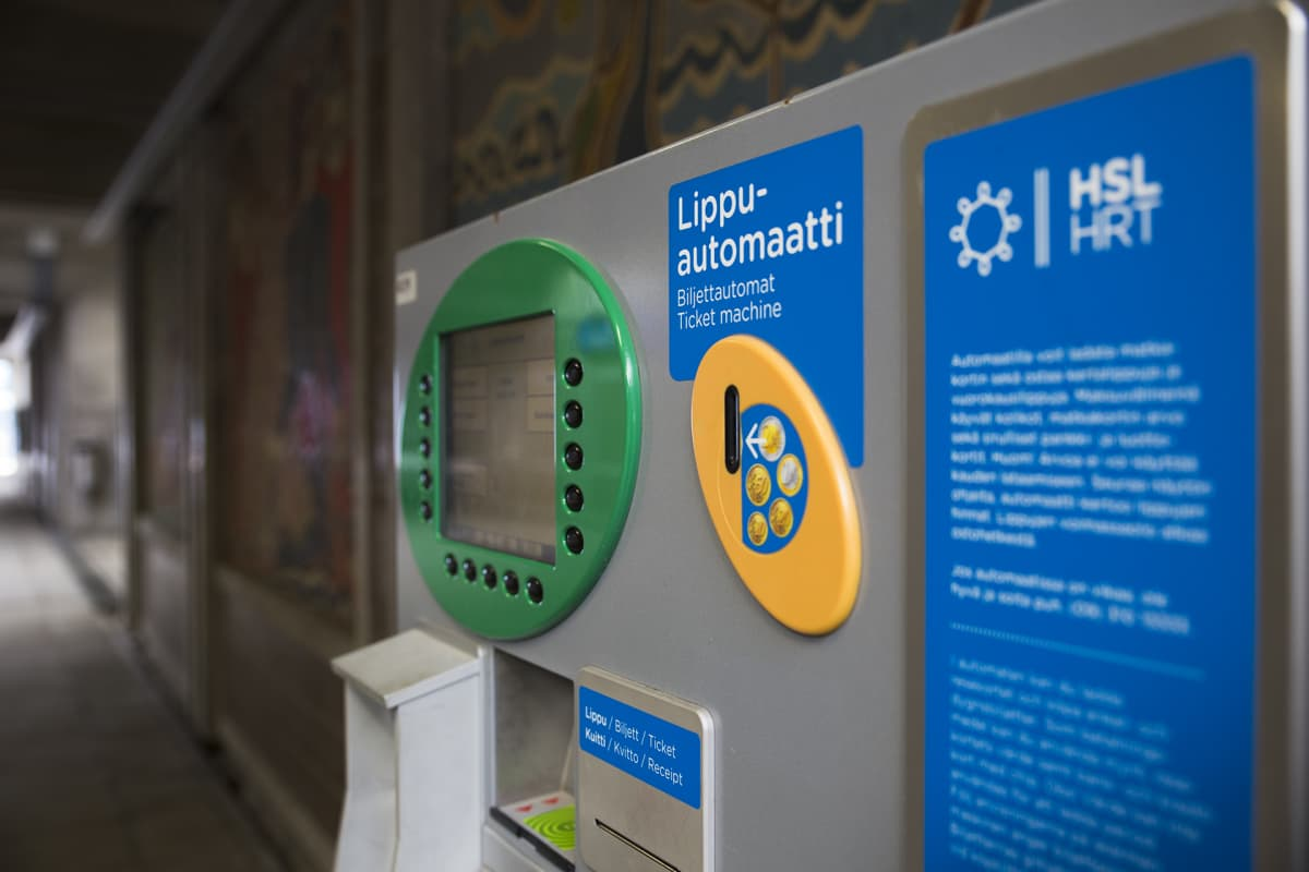 Lippuautomaatti Pasilassa