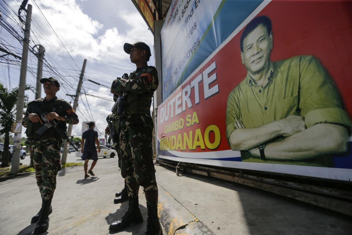 Filippiinien tuleva presidentti Rodrigo Duterte lupaa iskeä rikollisuuteen kovakätisesti.