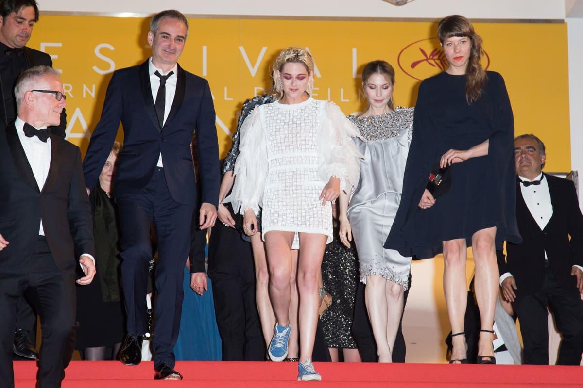 Kristen Stewart Personal Shopper -elokuvan Cannesin elokuvafestivaaleilla 17. toukokuuta.