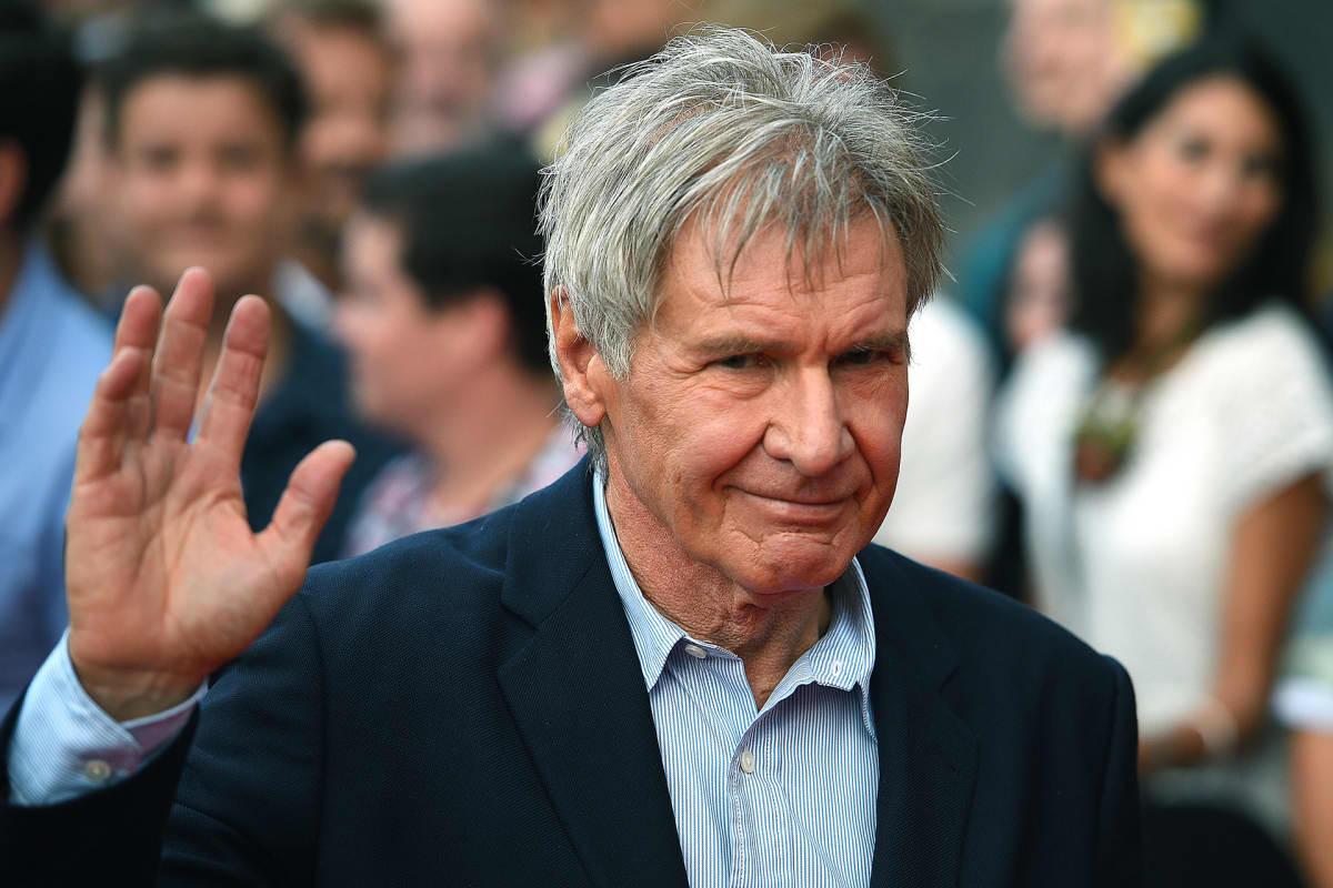Harrison Ford 'Star Wars: The Force Awakens' -elokuvan promootiotilaisuudessa Sydneyssä 10. joulukuuta 2015.