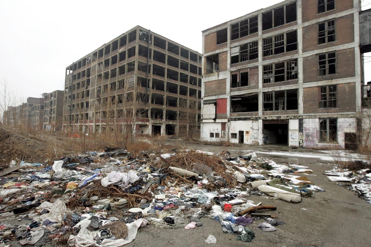 Hylätty alue Detroitissa.