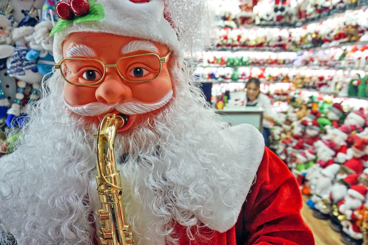 Joulupukki tukkukauppa Kiina Yiwu International Trade Mart.