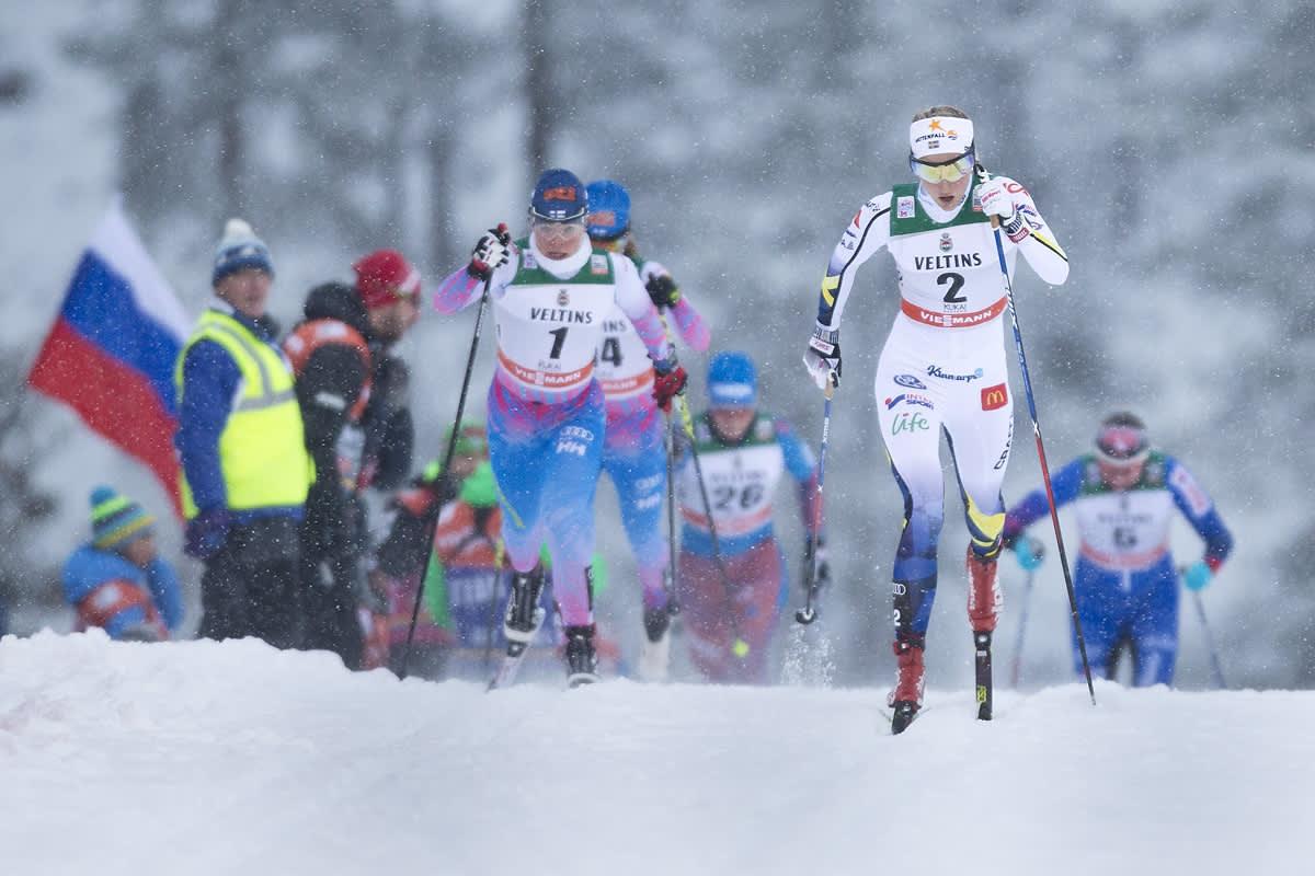 Naisten hiihto vauhdissa