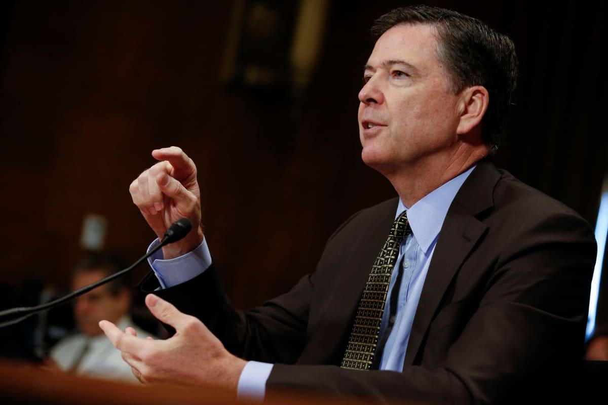 FBI:n johtaja James Comey Senaatin lakivaliokunnan kuultavana 3. toukokuuta 2017.