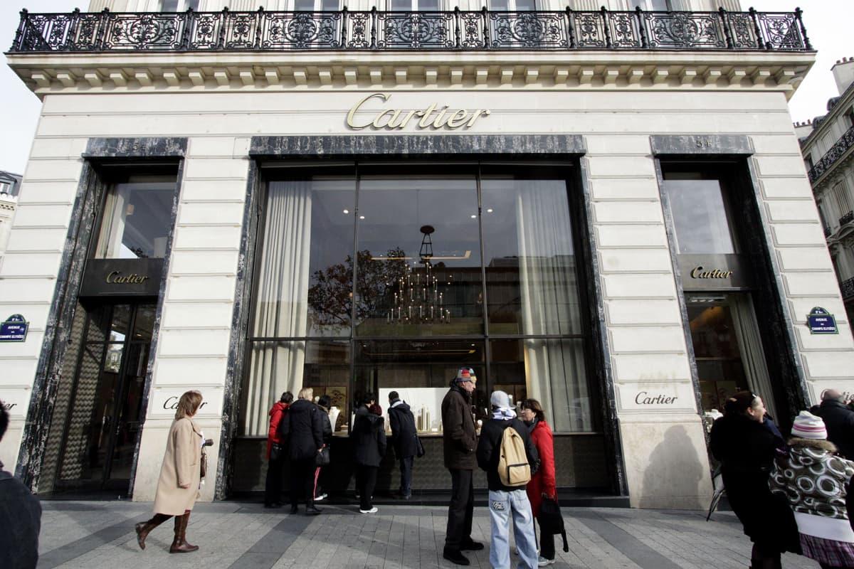 Cartierin jalokivikauppa Pariisissa.