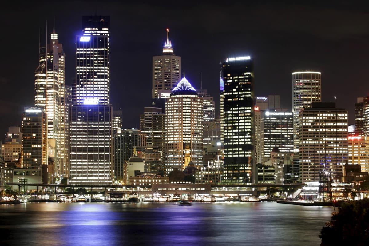 Sydneyn satama yöllä.