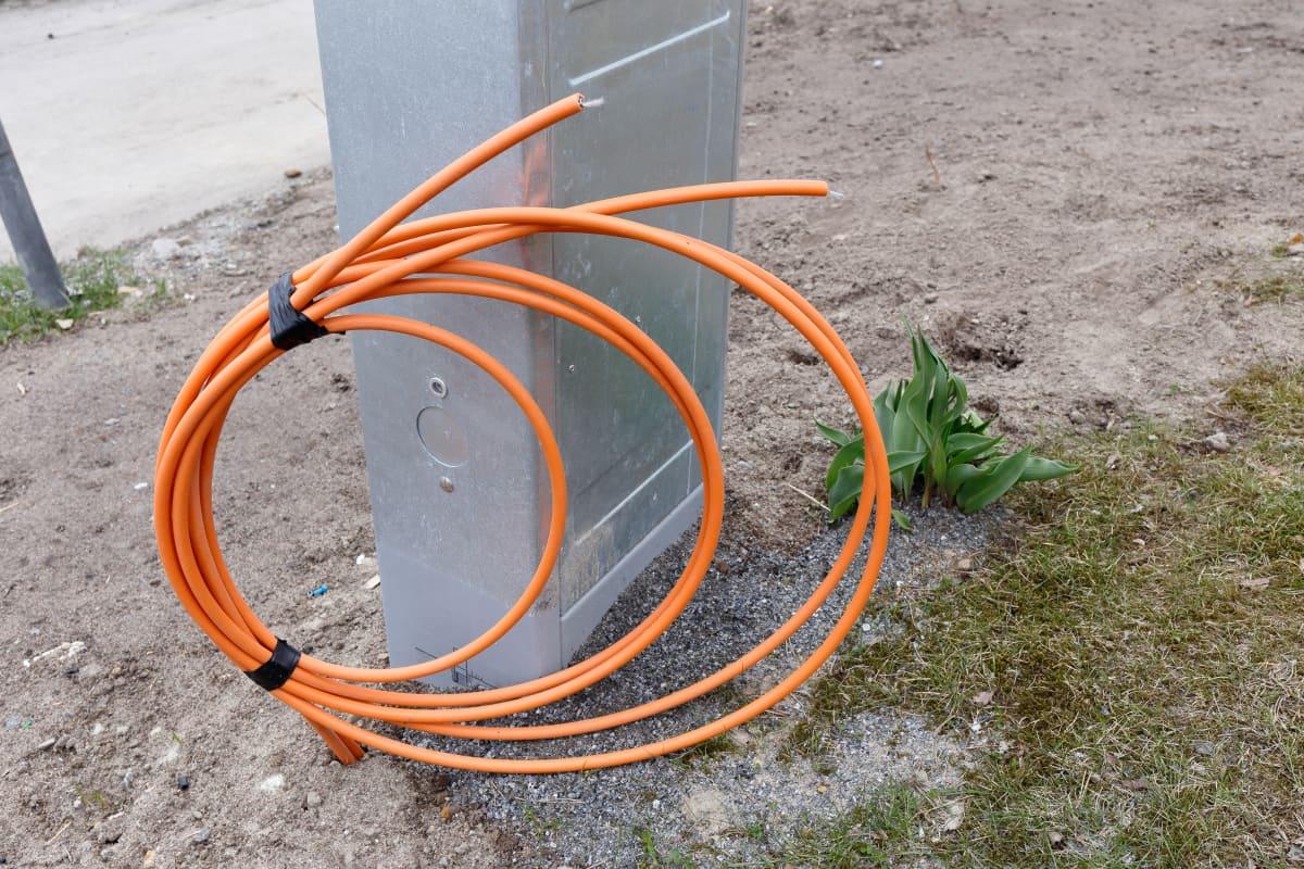 Anslutningspunkt för bredbandsnät.
