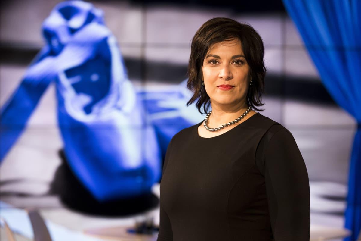 Suomen Kansallisoopperan pääjohtaja Gita Kadambi A-studiossa.