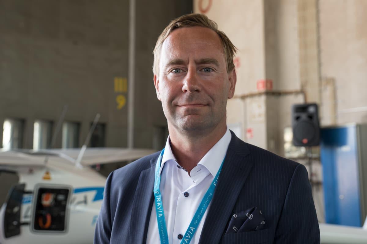 Kimmo Mäki / toimitusjohtaja /Finavia / Malmin lentokenttä 31.07.2018