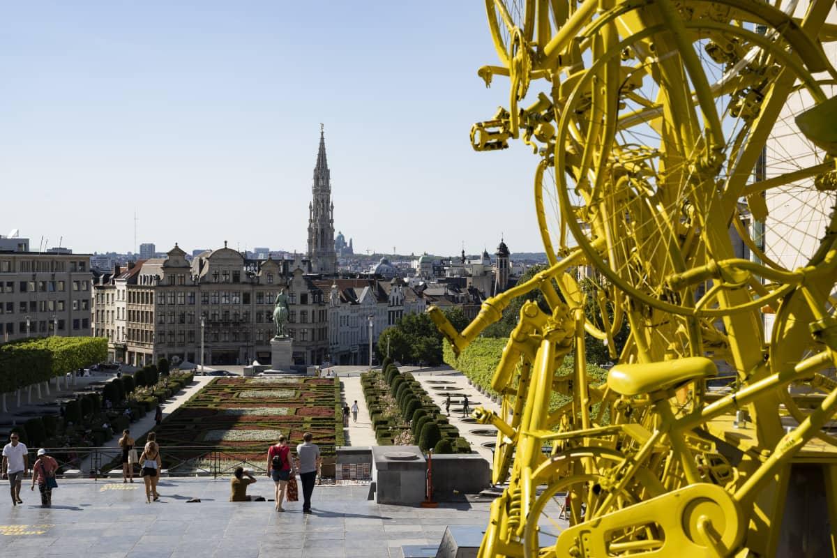 Yleiskuva Brysselistä heinäkuussa 2019.