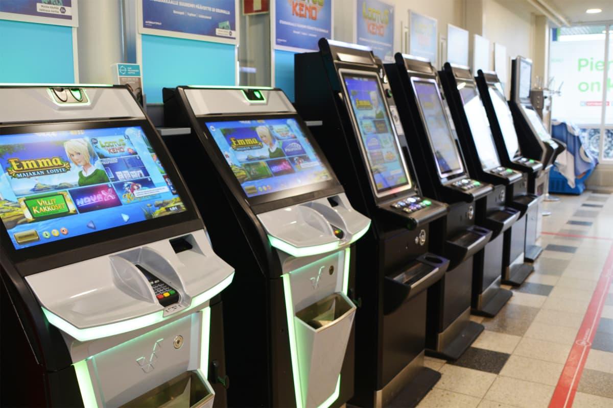 Spelautomater på rad.