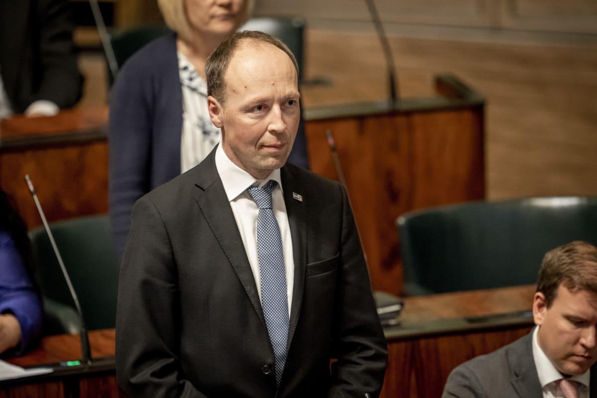 Jussi Halla-aho eduskunnassa 12.9.2019