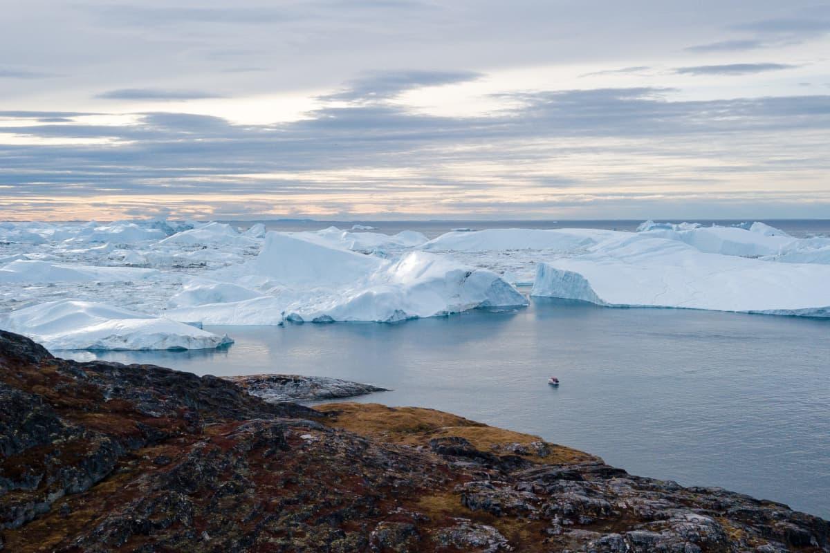 Ilulissat-vuonon jäävuoria Grönlannissa