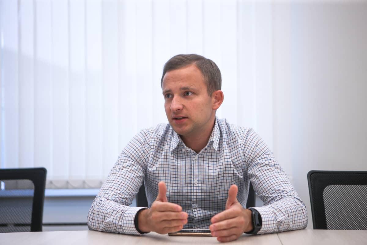 Venäjän opiskelijaurheiluliiton puheenjohtaja Jevgeni Raskin