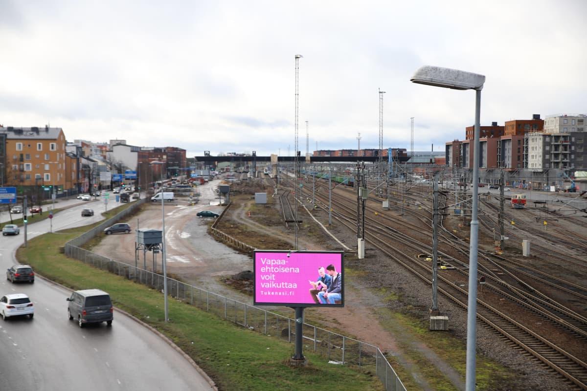 rautateitä Turun asemanseudulla