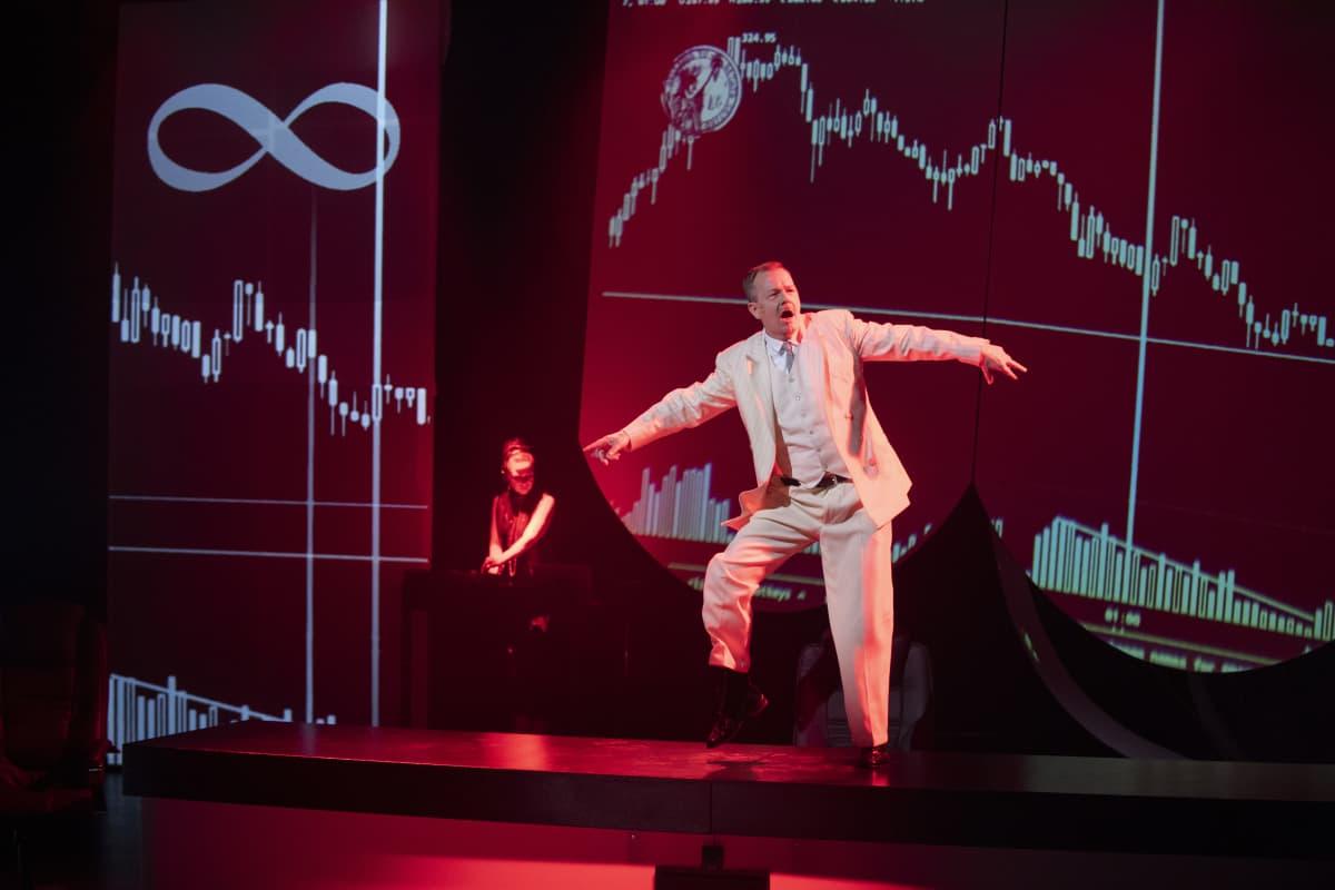Lehman näytelmän harjoituksia.