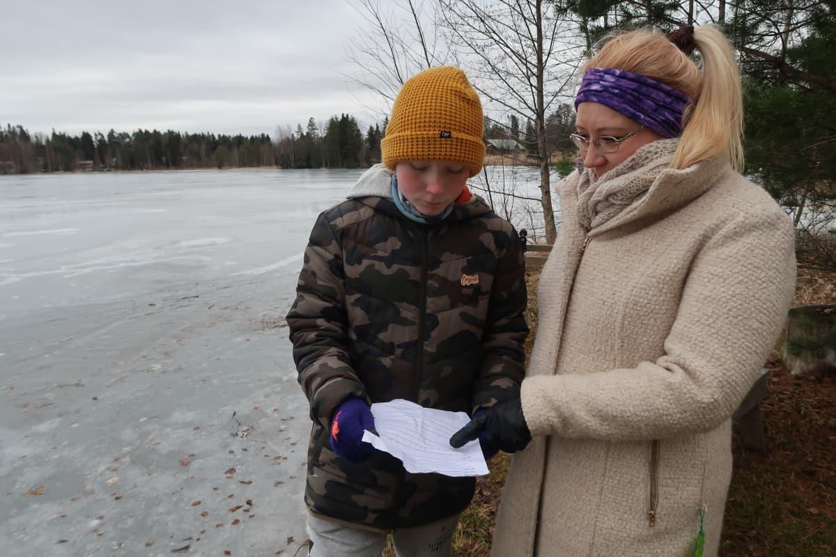 Katja-Marika ja Rasmus Mäkinen
