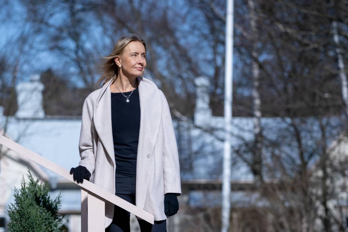 Lukukeskuksen toiminnanjohtaja Ilmi Villacis, Villa Kivi, Helsinki, 8.4.2020.
