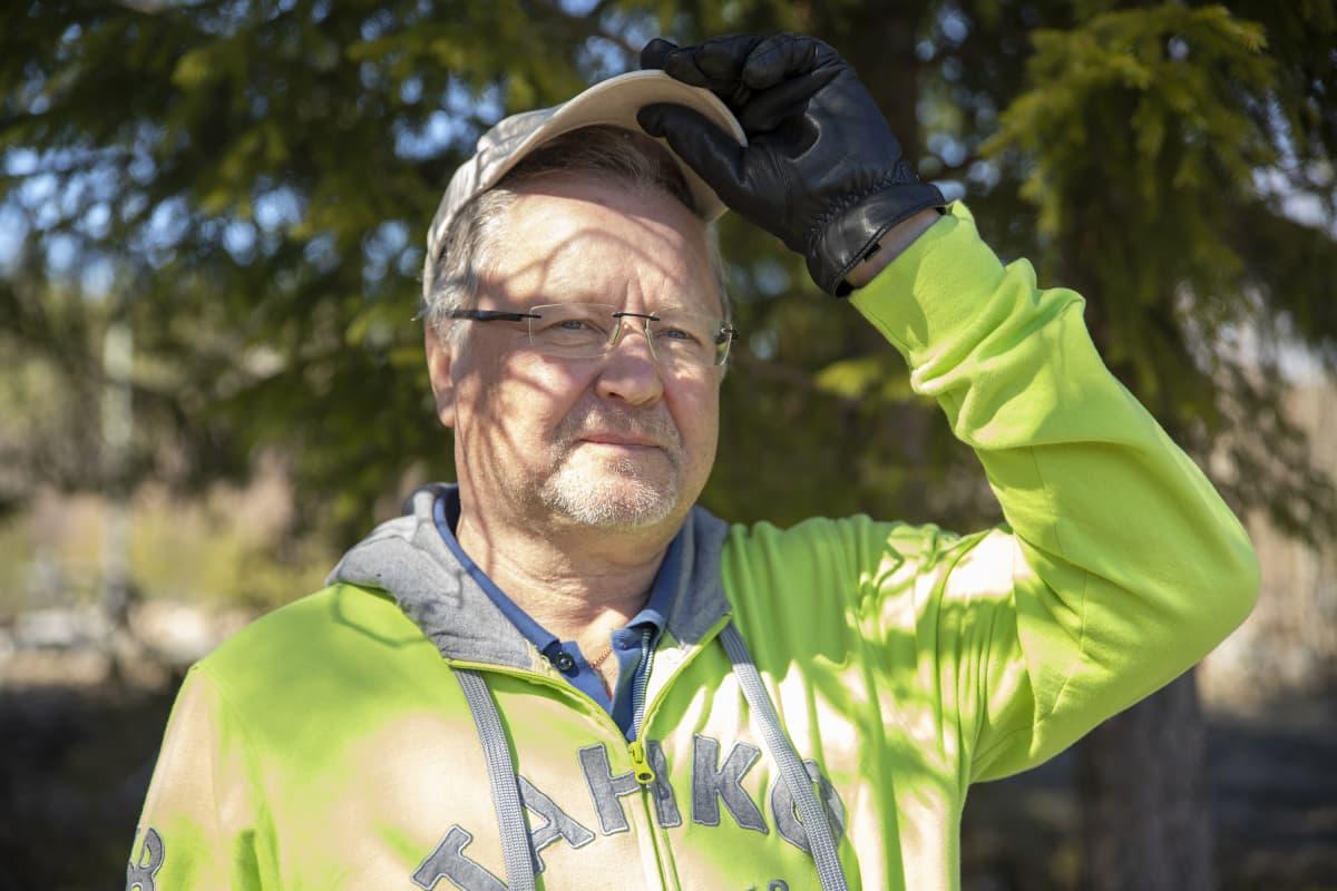 Tahkon kyläyhdistyksen puheenjohtaja Kari Heiskanen.