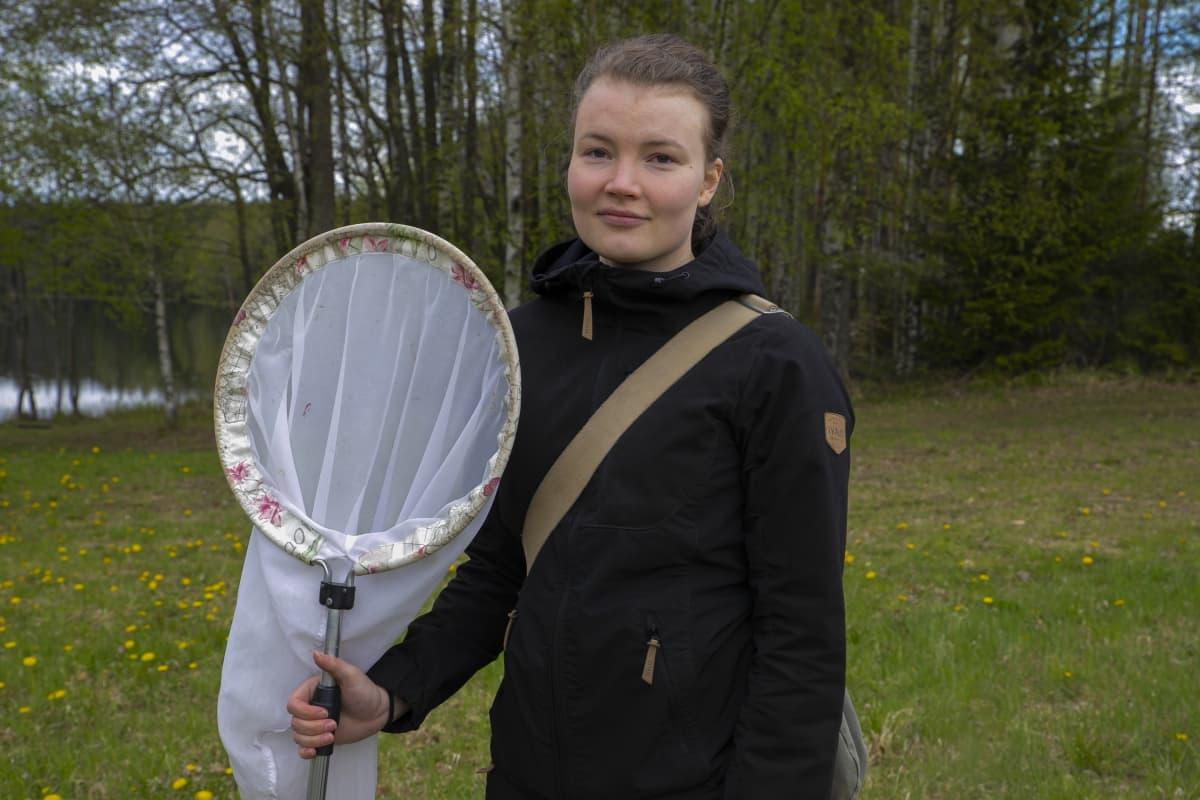 Ida-Maria Huikkonen haavin kanssa