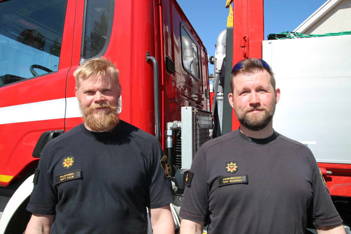Matti Salmi ja Tero Manninen kuuluvat Arktiseen pelastusjoukkueeseen, joka tulvantorjuntatöissä Lapissa kesäkuussa 2020
