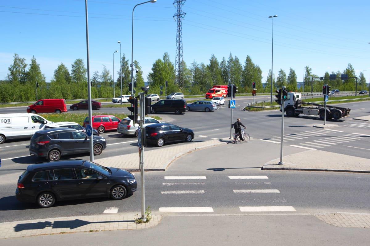 Vaitinaron risteys Tampereella.
