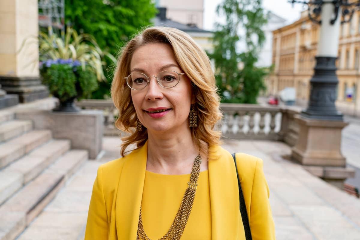 Eurooppa- ja omistajaohjausministeri Tytti Tuppurainen.