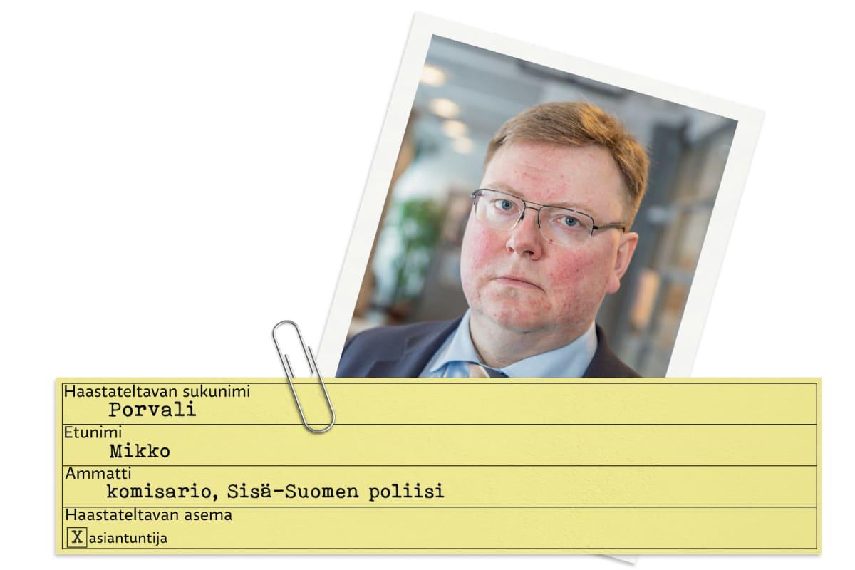 Mikko Porvalista tehty tietokortti.