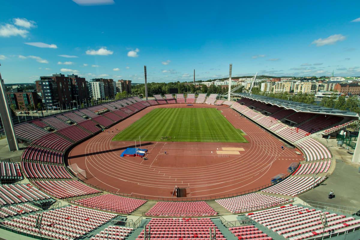 Tampereen stadion Ratinassa Tampereella.
