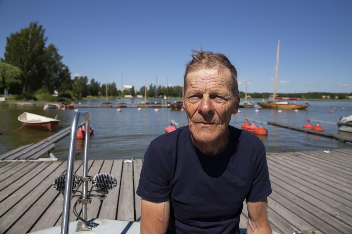 Rolf Tikander taksiveneyrittäjä Loviisasta.