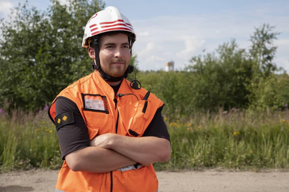 Pohjois-Savon pelastuslaitoksen palomestari Eerik Pudas.