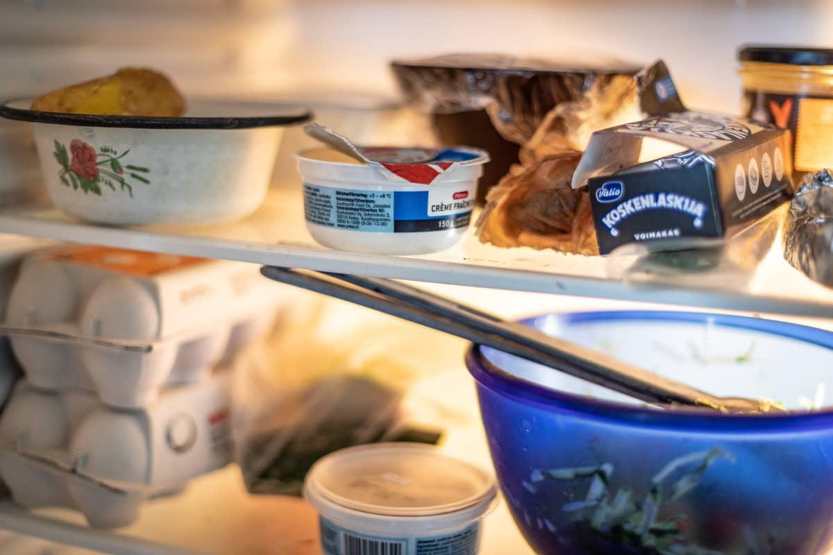 ruokaa jääkaapissa