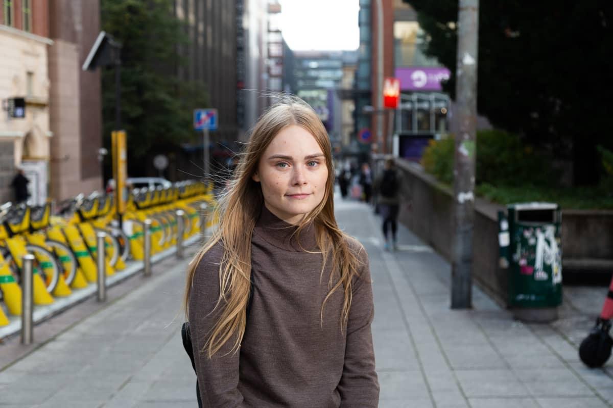 Opiskelija Eeva Toivonen.