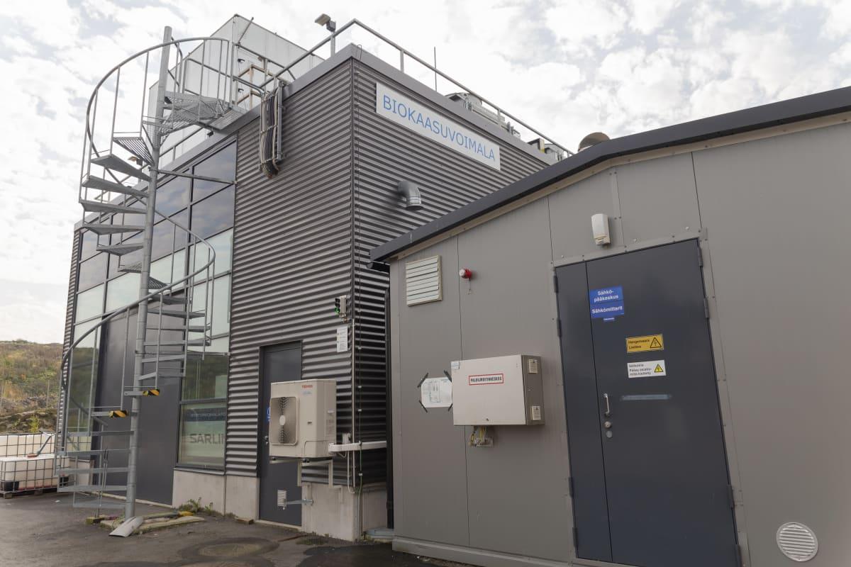 Biokaasuvoimala Ämmässuolla Espoossa