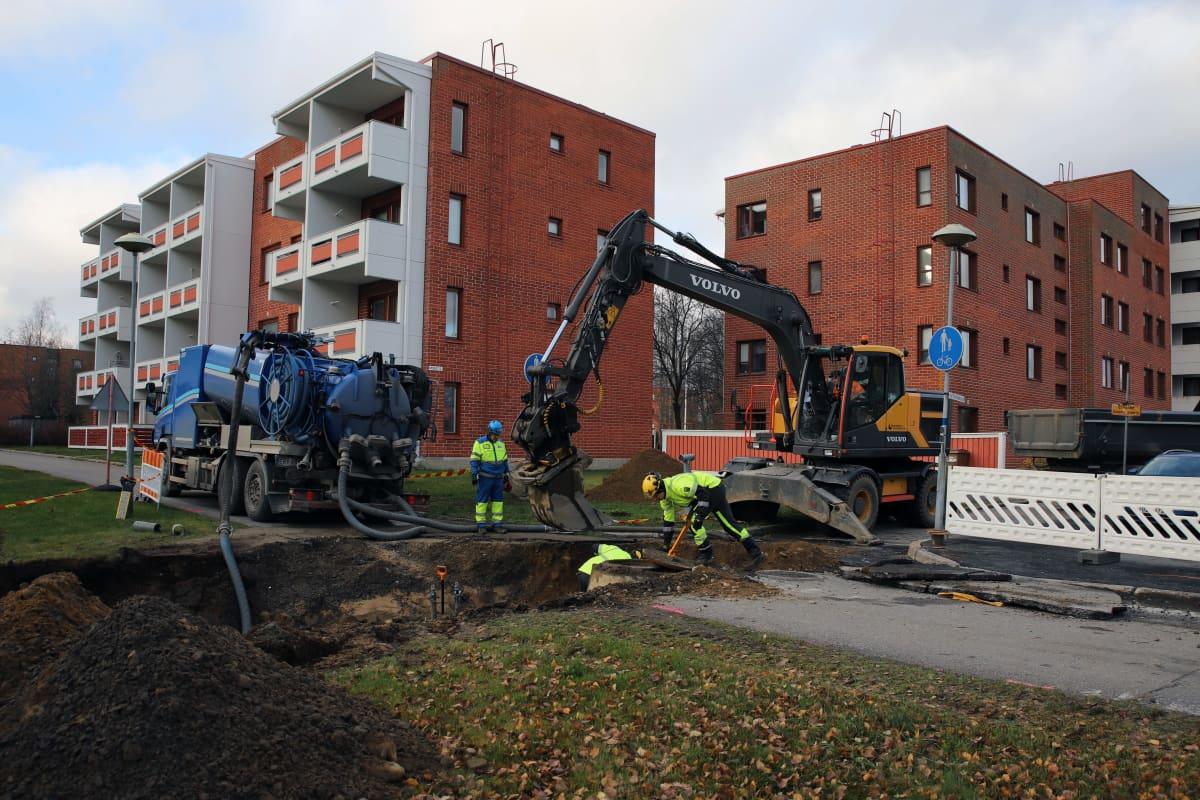 Vesilaitoksen työntekijät Mikkelissä Saksalassa