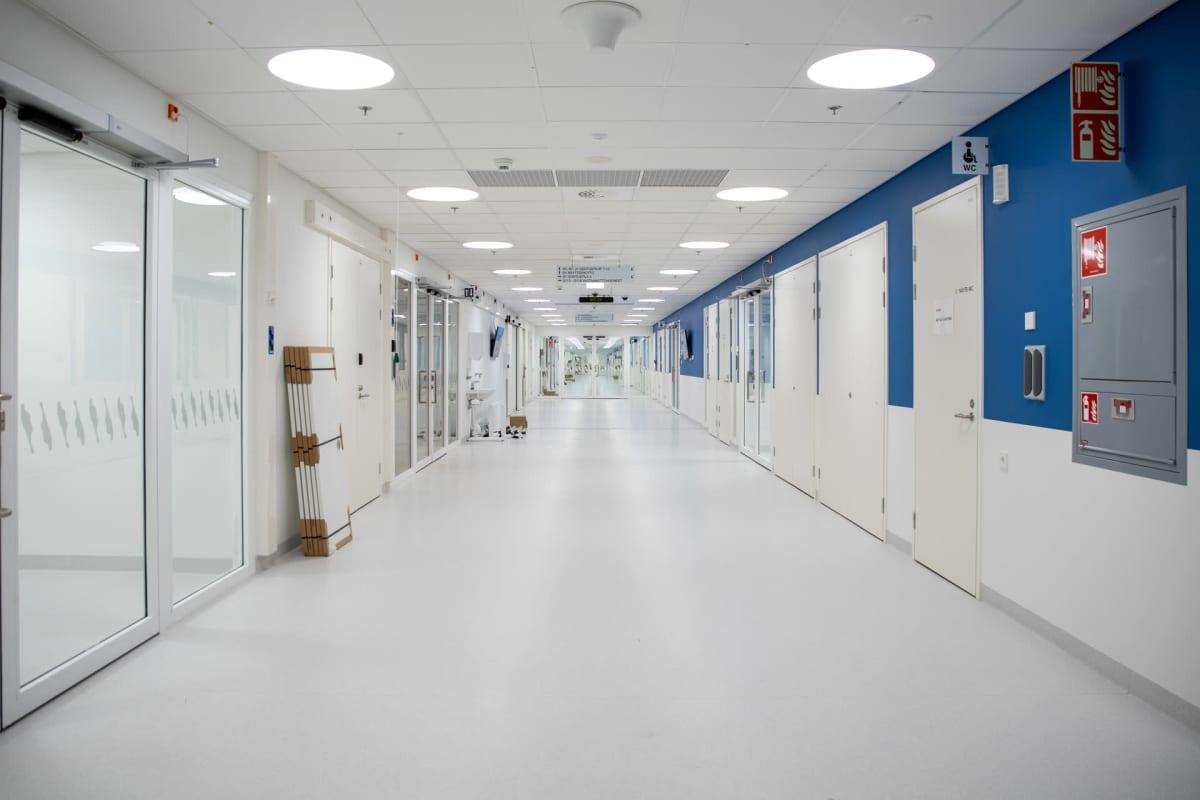 Uuden sairaala Novan käytävä