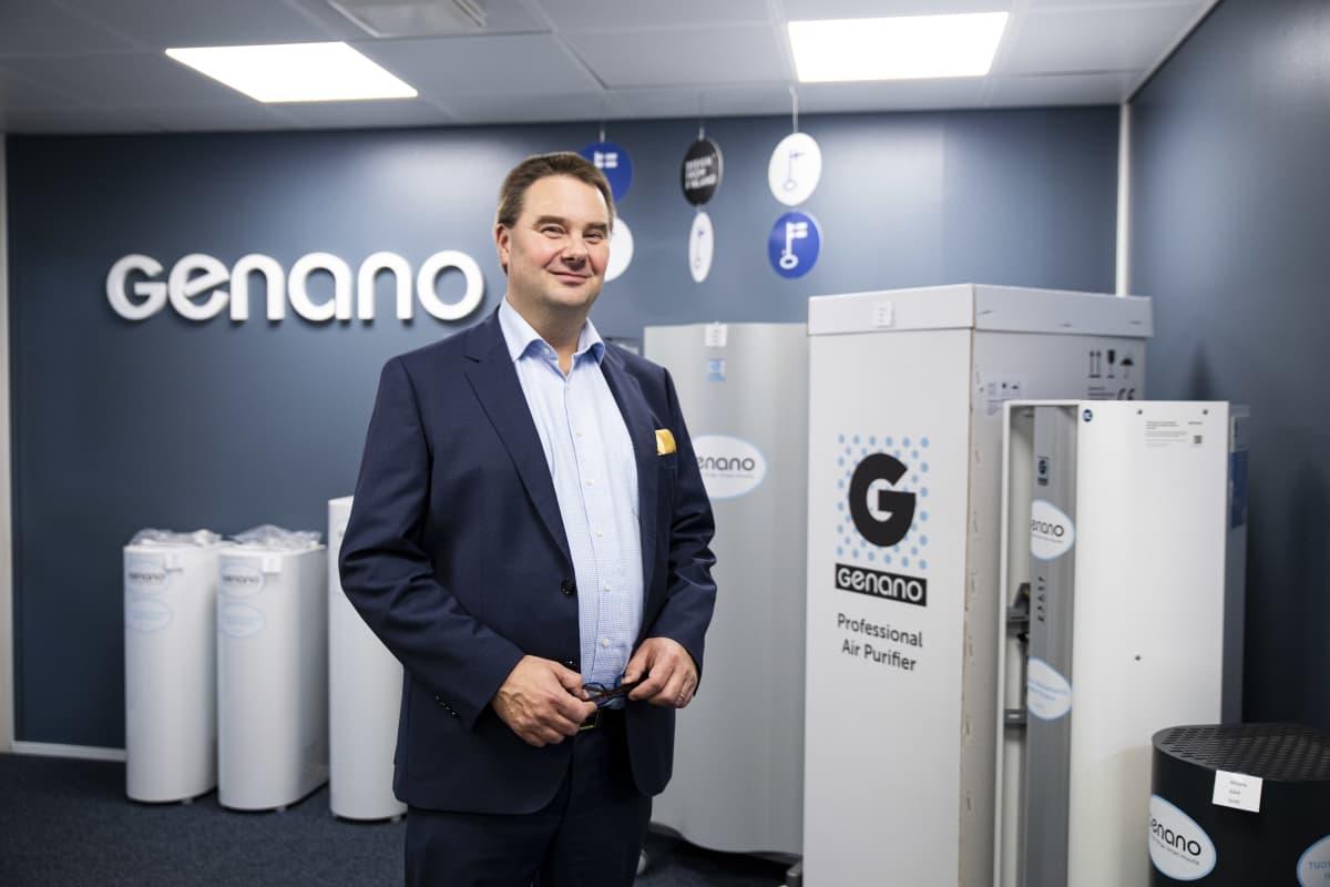 Toimitusjohtaja Niklas Skogster terveysteknologiayritys Genanosta.
