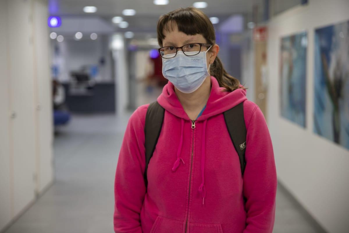 Sairaanhoitaja Heidi Purdy.