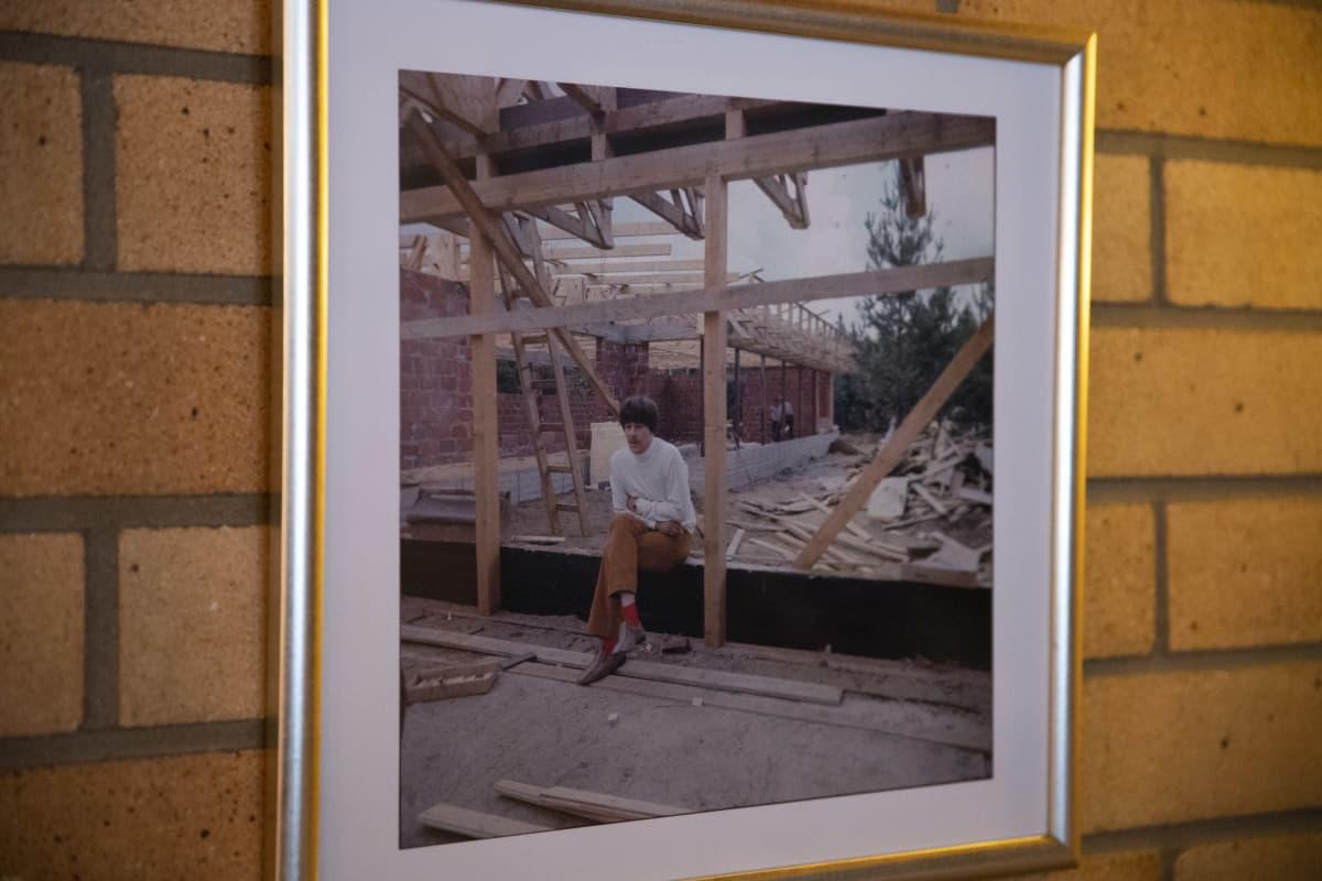 Irwinin valokuva Ryysyrannan rakennustyömaalta