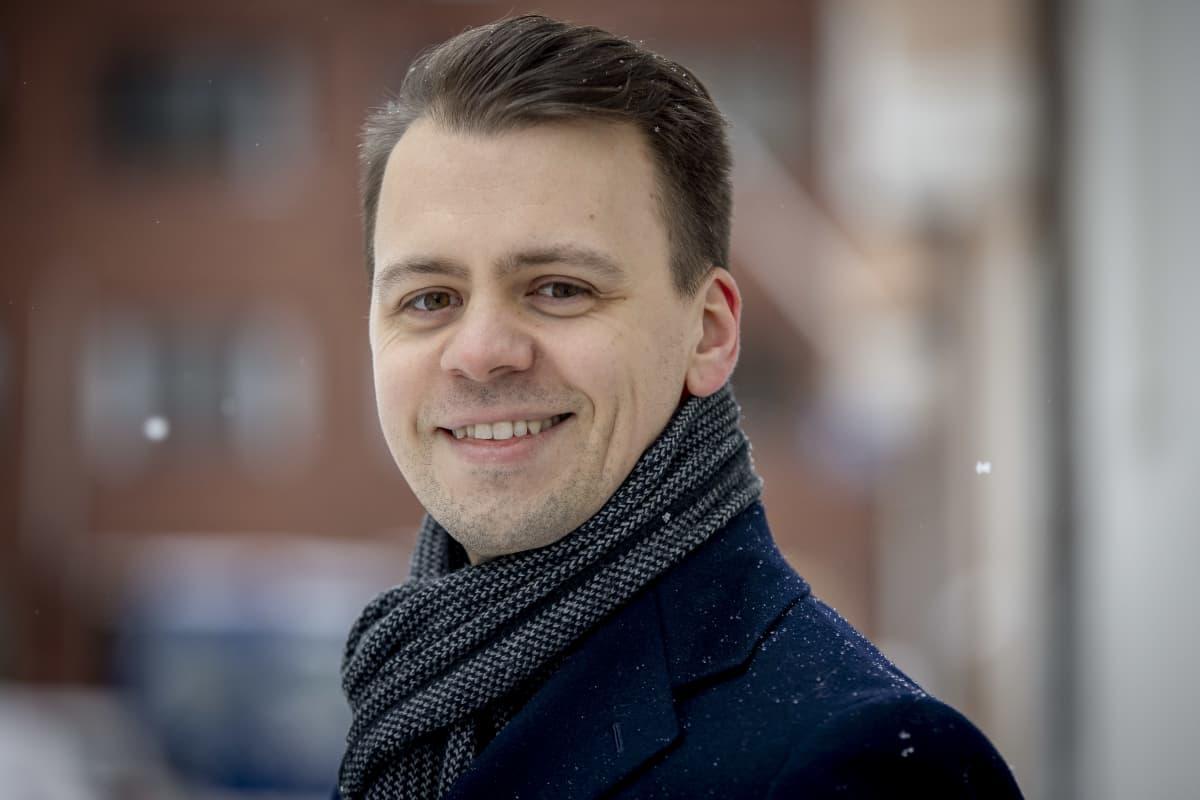 Suomen Osakesäästäjien toimitusjohtaja Victor Snellman Helsingissä