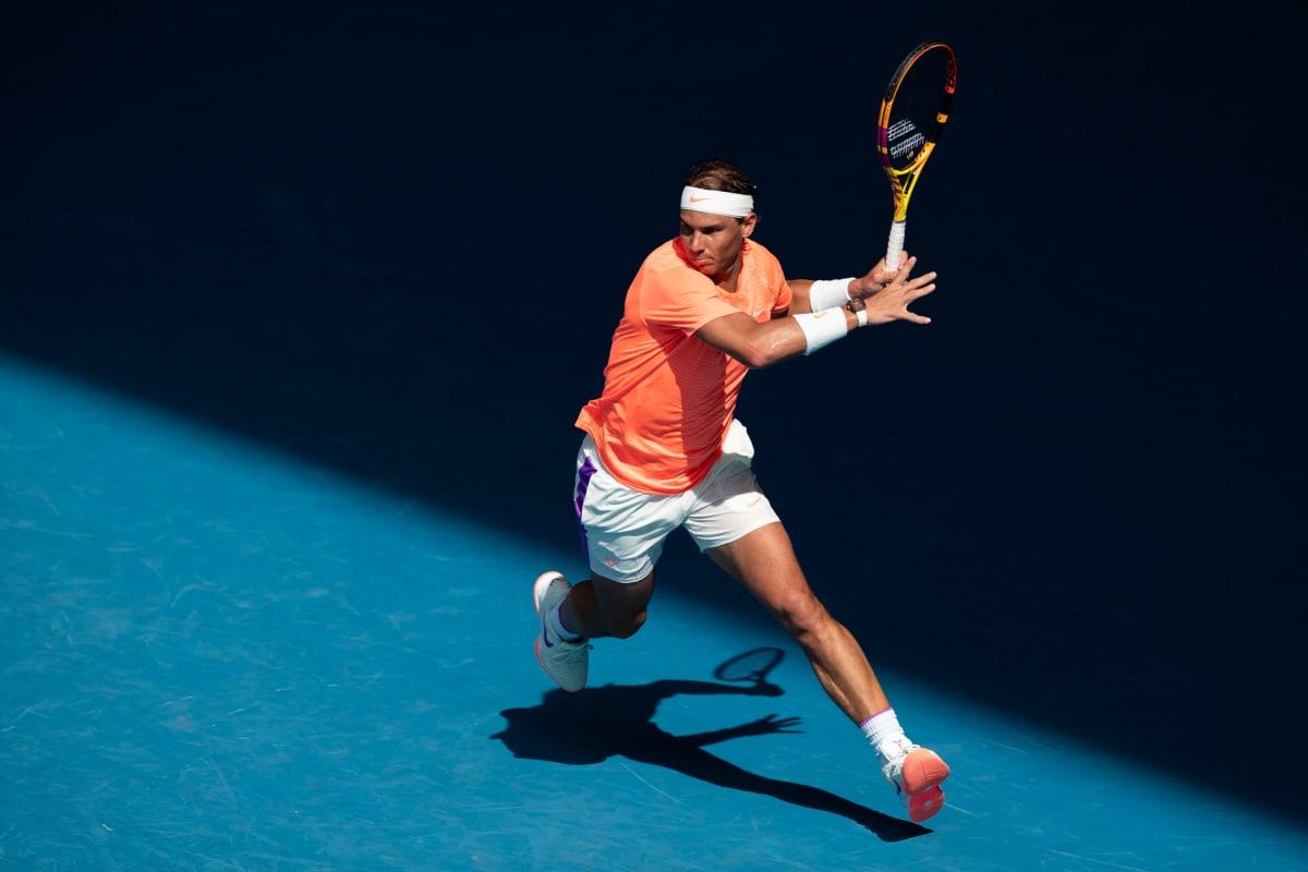 Rafael Nadal Australian avoimissa 2021.