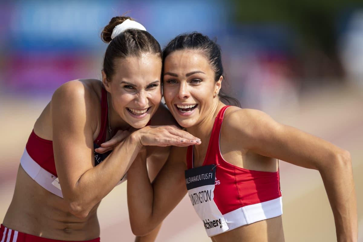 Miia Sillman och Maria Huntington på Kalevaspelen 2020 i Åbo.