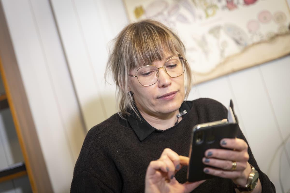 Sosiaaliohjaaja Janna Riitijoki.