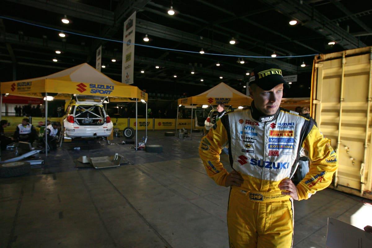Toni Gardemeister ajoi vuonna 2008 Suzukilla.