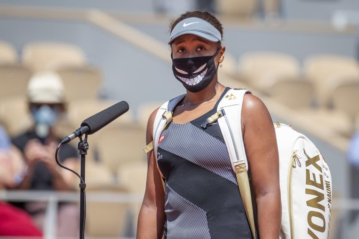 Naomi Osaka on antanut Ranskan avoimissa vain kenttähaastatteluja.