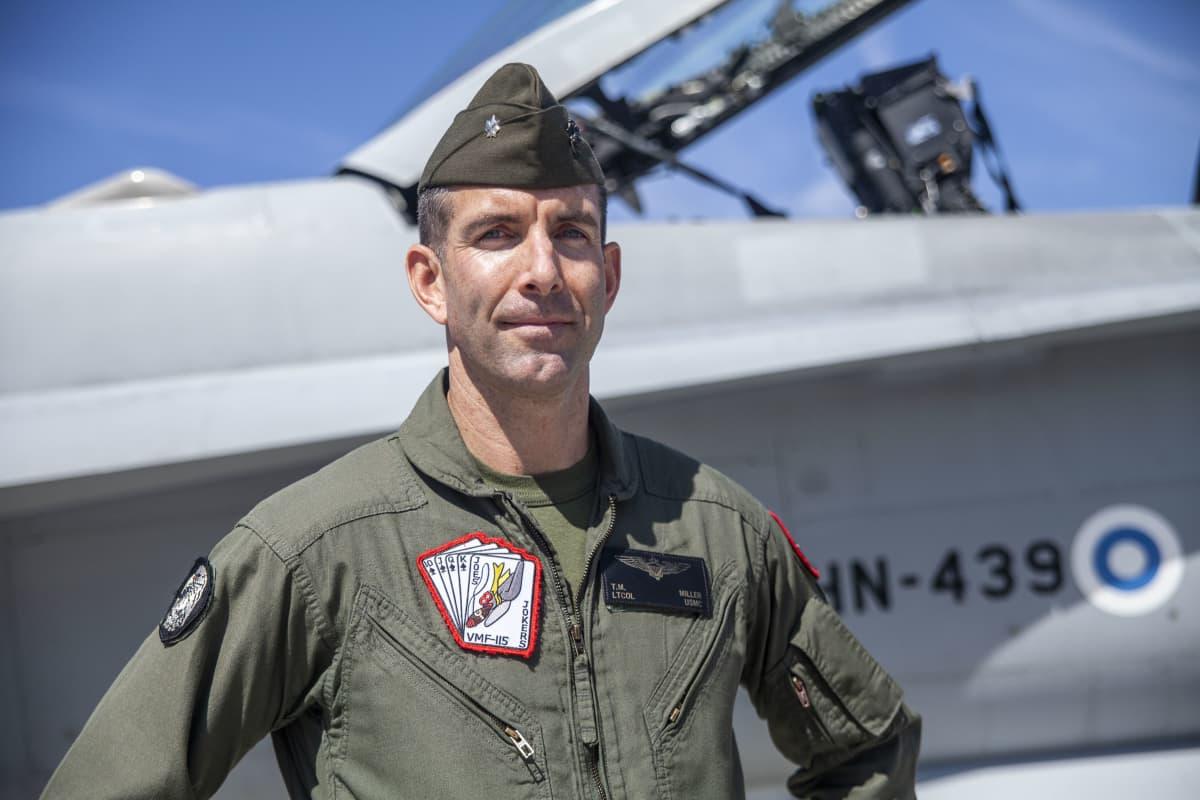 Timothy Miller komentaja (everstiluutnantti) Yhdysvaltain merijalkaväen lento-osasto