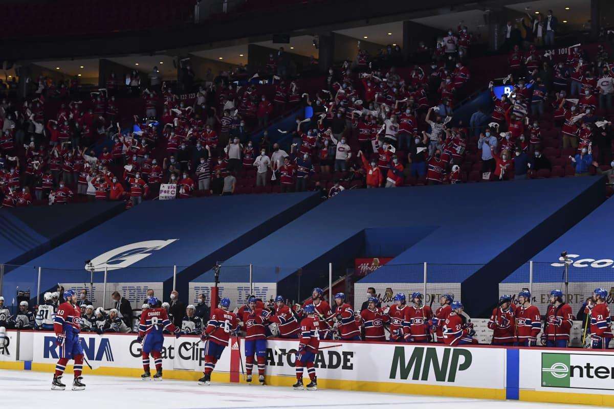 Canadiensin fanit ovat vahvasti mukana Montrealin menestyksessä.