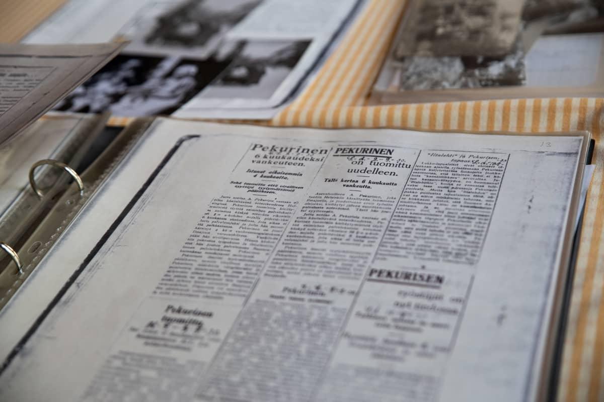 Vanhoja artikkeleita Arndt Pekurisesta