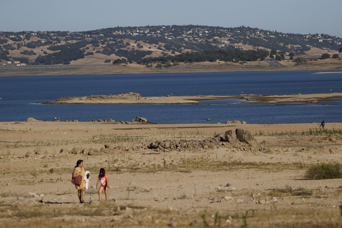 Kuiva järvi Kaliforniassa.