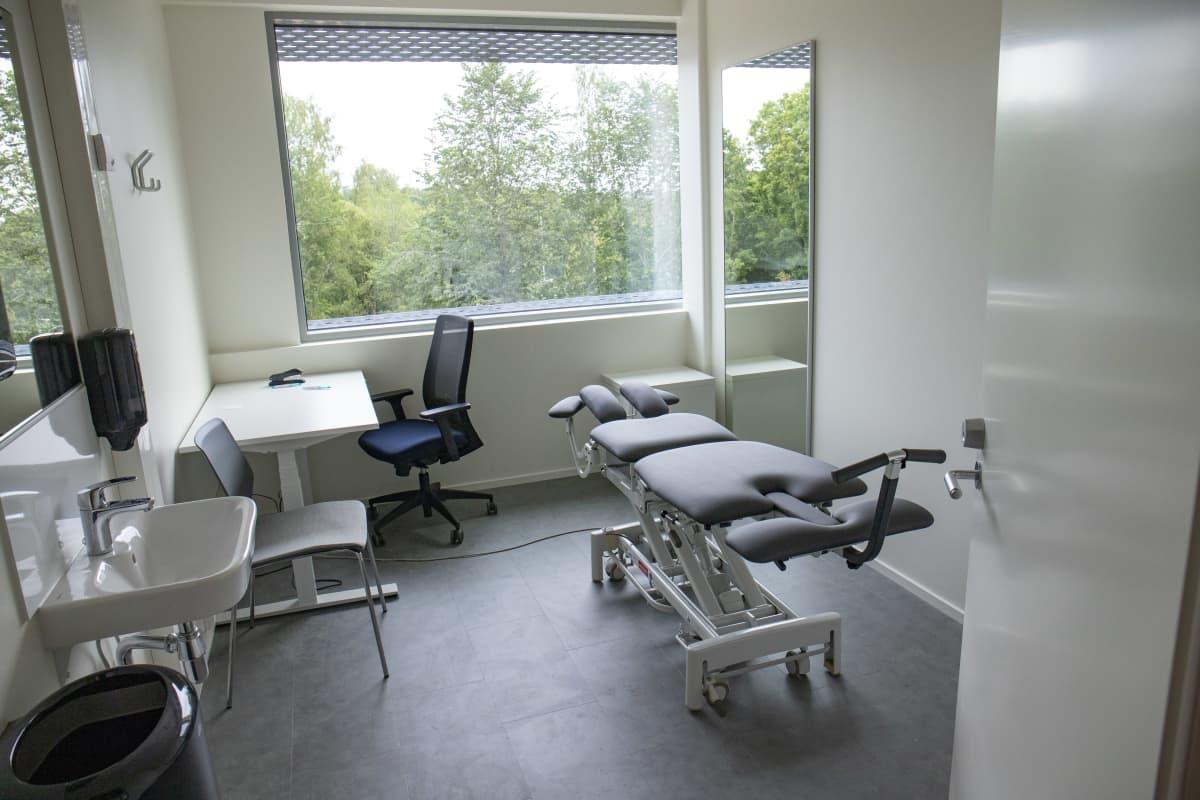 Fysioterapiahuone Urhea-kampuksella.